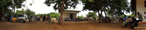 A joint Mama Hope and Tanzania Children's Concern community meeting in Newland, Tanzania.
